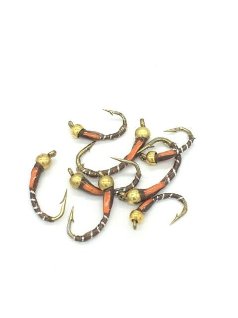 Fly Fishing Olive BeadHead Epoxy Buzzers 8 pack trout flies Size 10-14 #DR1-F