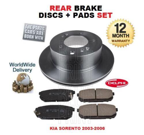 FOR Kia Sorento 2003-2006 2.5TD 3.5i REAR Discs AND Pads Kit SET *OE QUALITY*