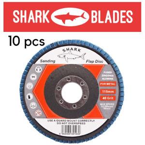 """10-30 Flap Sanding Grinding Disc 115mm 4.5/"""" 40 60 80 120 GRIT Zirconium Oxide AU"""