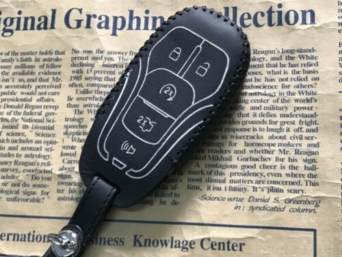New Leather Car Key Case Cover For FORD FUSION LINCOLN MKZ MKX MKC MUSTANG F-150