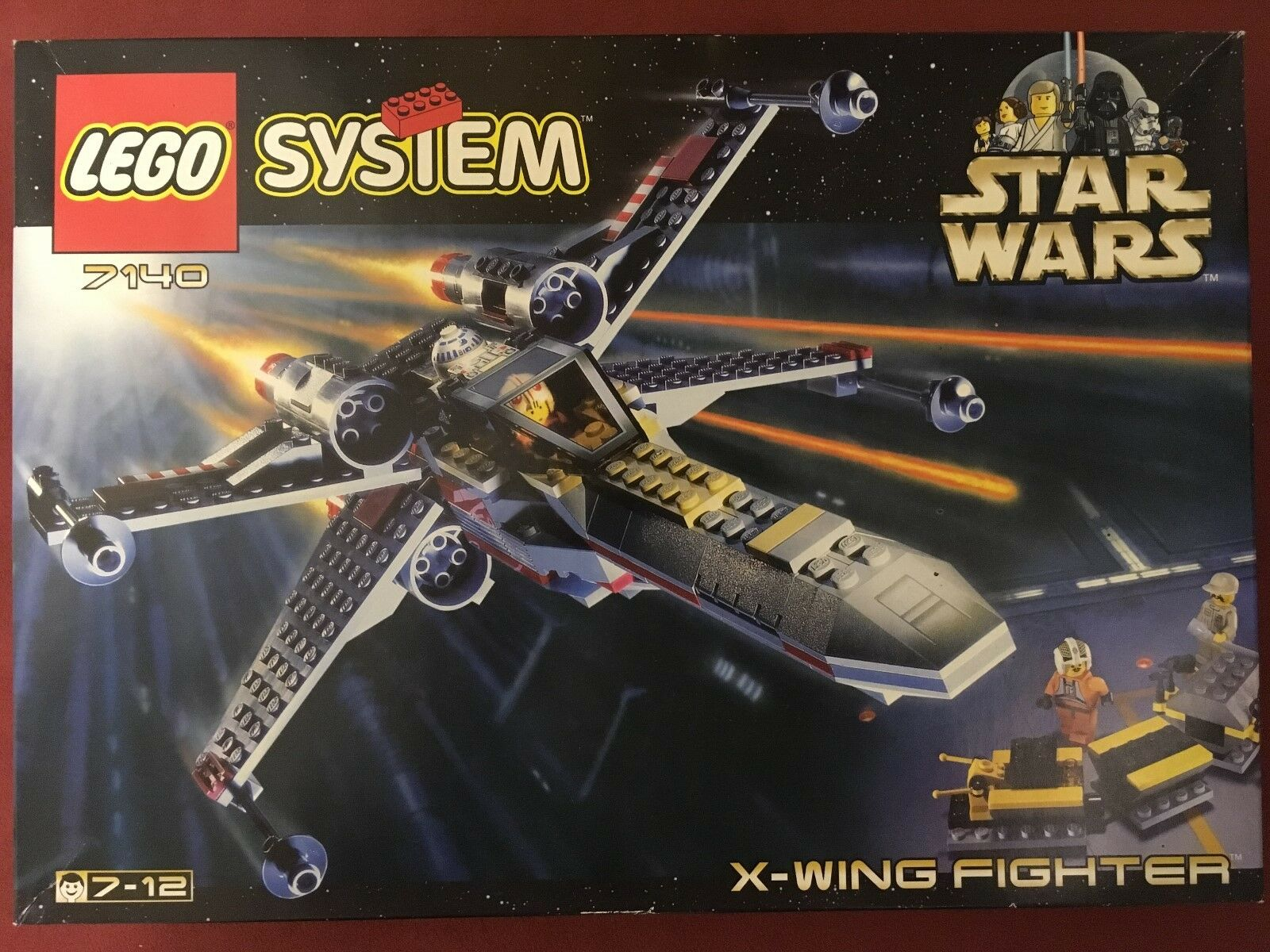 LEGO ® 7140 sistema Star Wars X-Wing Fighter 1999 OVP & SIGILLATO  SEALED