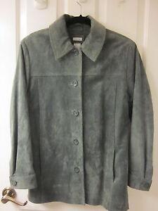 usé vert Manteau Cherokee très la de lavable S foncé S femme en daim 6x61wqt7p