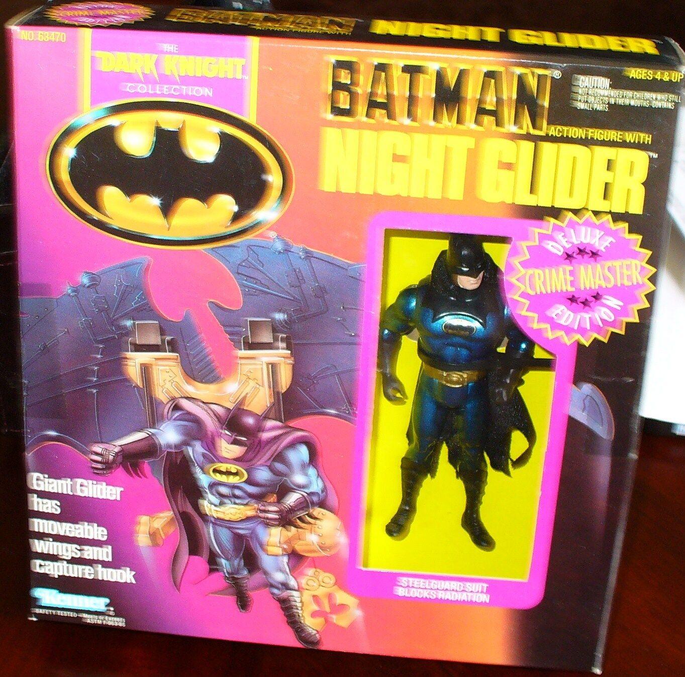 Batman Night Glider Deluxe Crime Crime Crime Master Edition Kenner 1990 New Rare 39b269