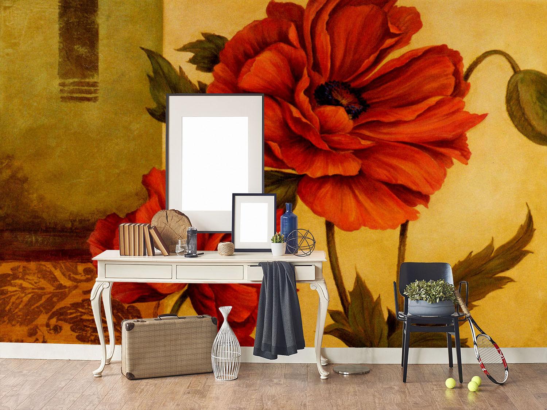 3D Große bluemen-Wand 1098 Fototapeten Wandbild Fototapete BildTapete Familie DE