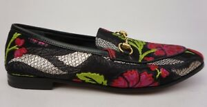 Gucci-Jordaan-Floral-Jacquard-Loafers-Women-039-s-Shoes-Size-38-NEW