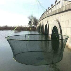 Foldable-Drop-Net-Fishing-Landing-Net-Prawn-Bait-Crab-Shrimp-Pier-Harbour-B4J8