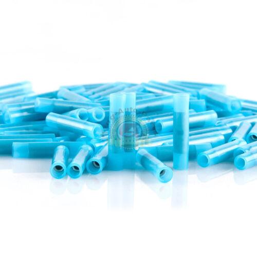NYLON BUTT CONNECTOR 16-14 BLUE SEE THRU SEEMLESS 100 Pack