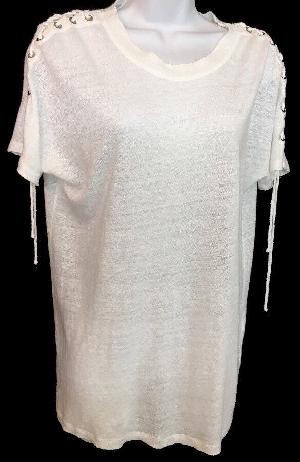 IRO Top Stero Weiß Lace Up Sleeve Short Sleeve  Größe S