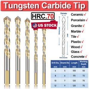 Hex Shank Ceramic Tile Drill Bits 5pcs Carbide Tip Masonry Drilling Bit Set for Hard Porcelain