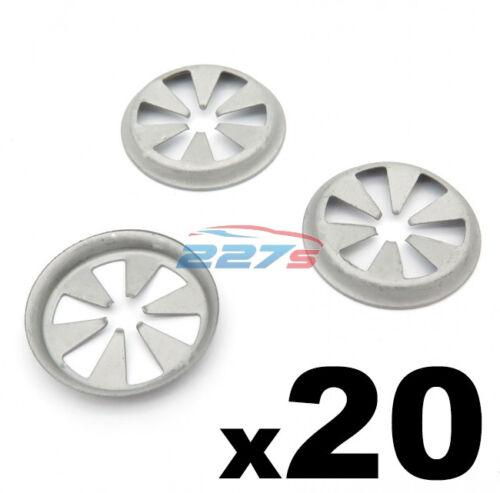 20x FORD bloccaggio in metallo STAR Rondelle-Passaruota Fodera /& Sottoscocca Shields