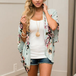 Women-Floral-Kimono-Coat-Chiffon-Beach-Cover-Up-Tops-Shirt-Summer-Beach-Cardigan