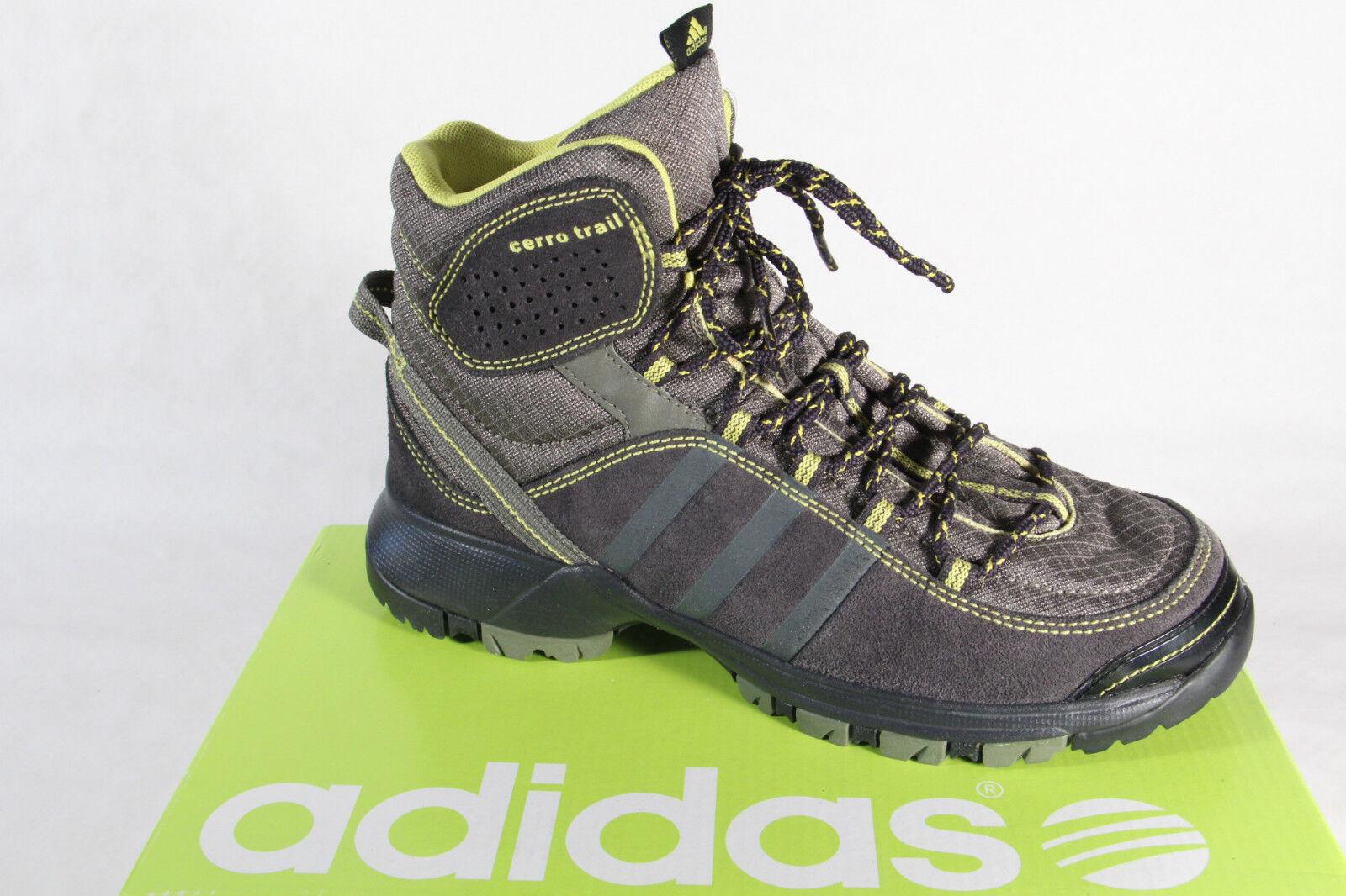 Adidas Stivali Impermeabile pelleTessile GrigioGiallo Nuovo