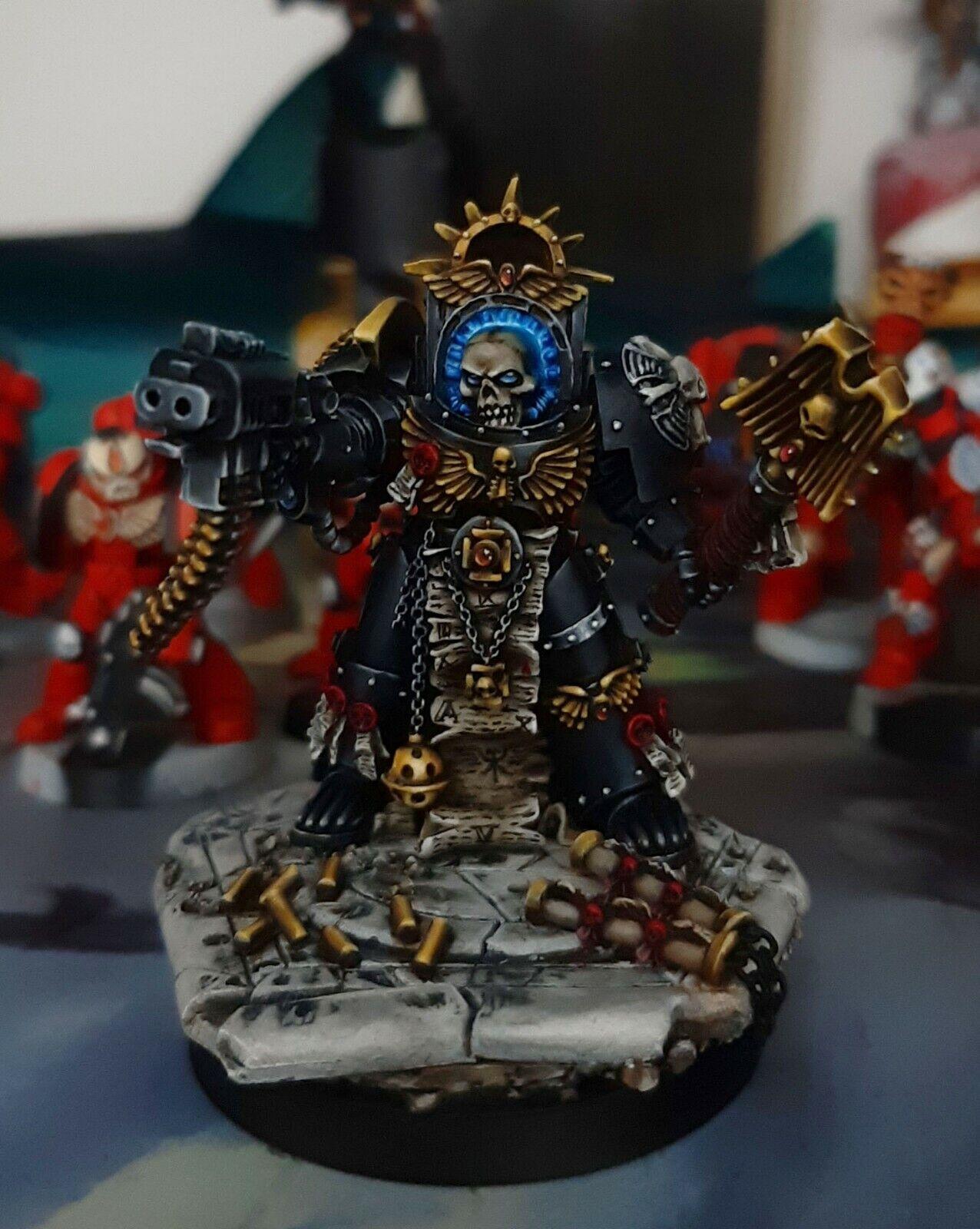 Warhammer 40k space marine terminator chaplain pro painted