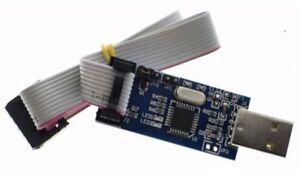 NEW USB ISP Programmer AVR ATMEL ATMega8 Download Pin IDC Cable 3.3V 5V New GAN
