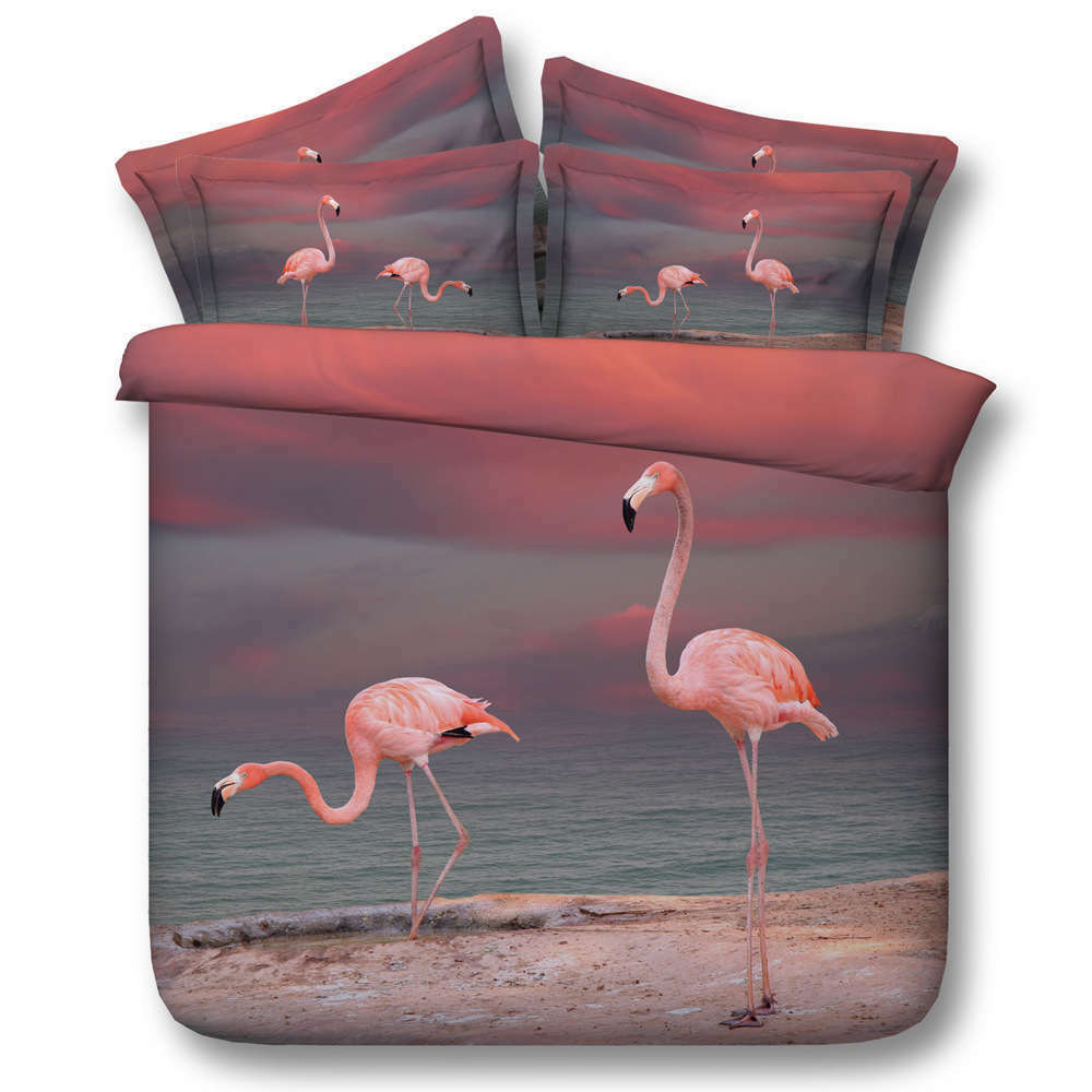 Bird's Seaside 3D Printing Duvet Quilt Doona Covers Pillow Case Bedding Sets