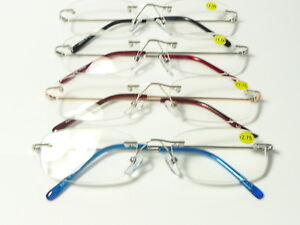 1dfa9344a7a4 Image is loading New-Mens-Womens-Designer-Unisex-Rimless-Reading-Glasses-