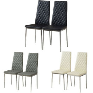 Modern Dining Chairs Dining Room Chair Faux Leather Chrome ...