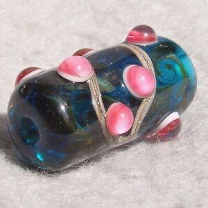 MARQUESAS Handmade Art Glass Focal Bead Flaming Fools Lampwork Art Glass SRA