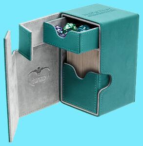 ULTIMATE-GUARD-FLIP-n-TRAY-PETROL-BLUE-100-XENOSKIN-DECK-CASE-Standard-Card-Box