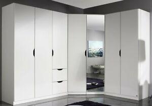 Details zu Eck-Kleiderschrank Freiham Eck-Schrank Schranksystem  Kleiderschrank Schrank Weiß