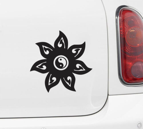 Car Vinyl Decal Sticker ©YYDCo. CAR Mandala Yin Yang 5 inch dia.