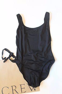 NEW J Crew Scoopback One Piece Swimsuit in BLACK Sz 6 Small B6805 $88