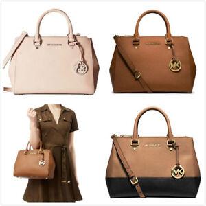 007a542b2ddc NWT Michael Kors MK Sutton Medium Satchel Saffiano Leather ...