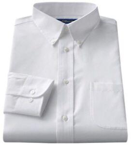 Men-039-s-Croft-amp-Barrow-Classic-Fit-Easy-Care-Button-Down-Collar-Dress-White-Shirt