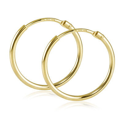 Realistisch Creolen Gold 585 Kinder Damen Ohrringe Echt Gold Flexible Kleine Kreolen 17mm