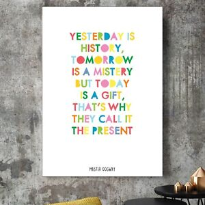 Kung Fu Panda Master Oogway Yesterday Is History Quote Poster Print