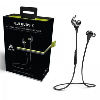 JayBird BlueBuds X Earbud Headphones WIRELESS Midnight Black BBX1MB