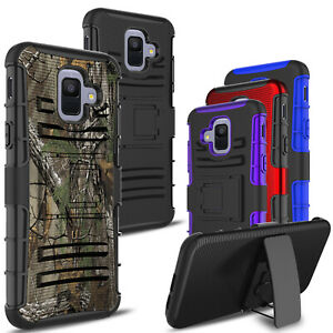 For-Samsung-Galaxy-A6-2018-Shockproof-Hybrid-Armor-Stand-Belt-Clip-Cover-Case