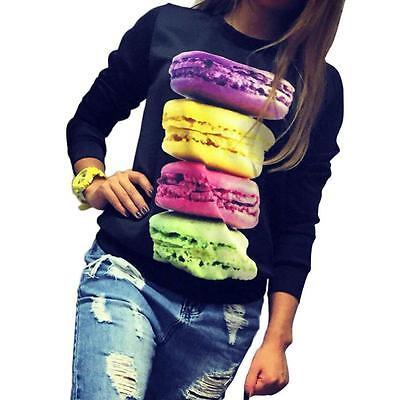 Women Long Sleeve Hoodie Blouse Loose Casual Sweater Cotton Tops Chic Sweatshirt