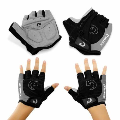 Men Cycling Bike Half Finger Bicycle Gel Padded Fingerless Non-Slip Sport Gloves