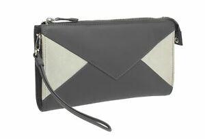 Bag Collection Clutch 21 7138 Leather Black Lexi Mala shoulder grey pX5xtCq5w