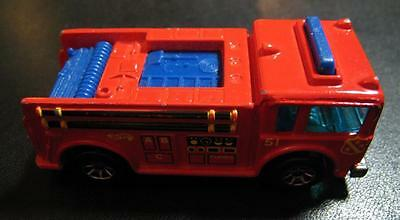 Toys & Hobbies Hot Wheels 1976 Red Fire Truck # 51 7cm Die-cast Metal Malaysia Very Good Elegant In Smell