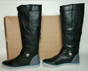 NIKE WOMEN S CARICO HIGH LEATHER BOOTS SIZE 5.5 BLACK NEW BOX 525412 ... 28556bd10