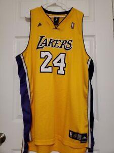 Adidas Kobe Bryant Los Angeles Lakers Stitch Jersey Purple & Gold ...