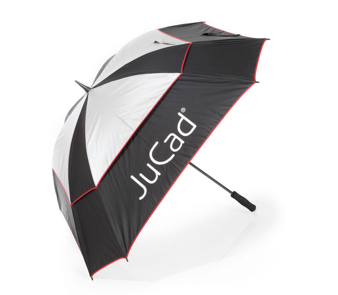Jucad ® paraguas windproof negro plata rojo nuevo VK  95,-