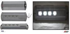 12V 24V SLIM DEISGN VAN RECTANGLE CEILING DOME ROOF INTERIOR LIGHT LAMP 4 LED