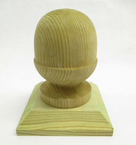 Wooden MID ACORN Finial for 4 Inch Posts