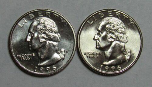 Details about  /1996 P/&D Washington Quarters in BU condition