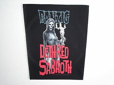 DANZIG DETH RED SABAOTH BACK PATCH