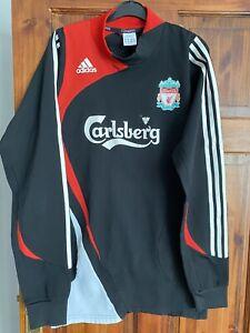 Liverpool FC 2007/08 Vintage Adidas Football Training Drill Top Sweatshirt XL