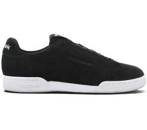 dda5d8159a344 Reebok Classics Npc II S MEN S Trainers Shoes Leather Black Workout ...