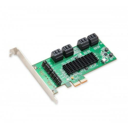 IO Crest SD-SA2PEX-1E1I 1 Port eSATA II 1 Port SATA II PCIe x1 Controller Card