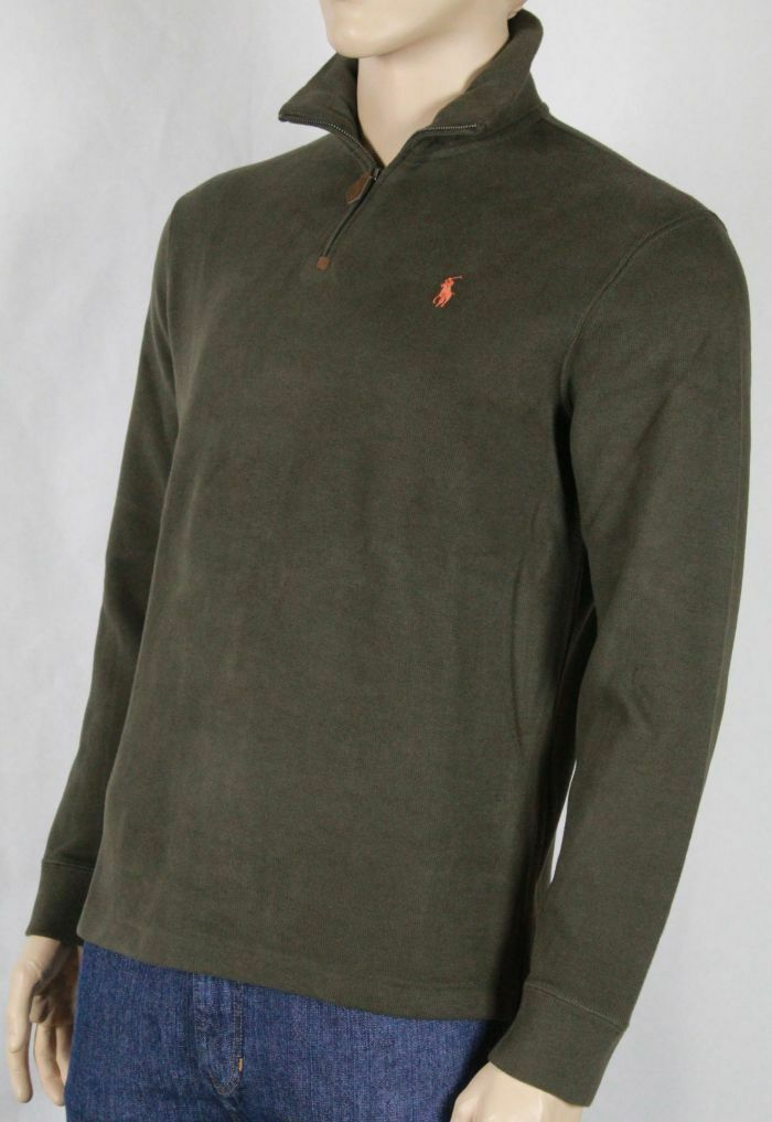 Polo Ralph Lauren Small S Olive Grün 1/2 Half Zip Sweater NWT