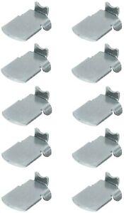 10x taquet étagère crémaillère acier support fixation armoire métallique rack