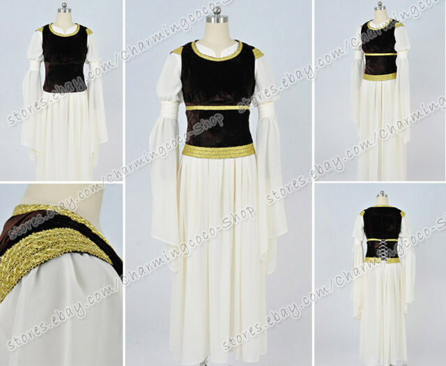 The Lord Of The Rings Cosplay Princess Eowyn Costum Gown Dress High Quality New