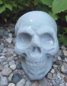 """rugged Latex skull mold plaster concrete Halloween mould 4"""" x 3"""" x 2.5"""" w"""